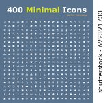 set of 400 universal icons .... | Shutterstock .eps vector #692391733