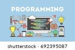 programming concept... | Shutterstock . vector #692395087
