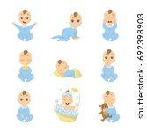 baby emoji set. funny cute... | Shutterstock . vector #692398903