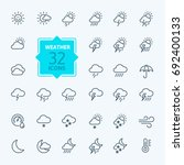 weather forecast   outline web... | Shutterstock .eps vector #692400133