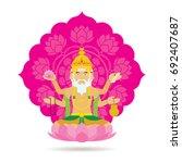 brahma hindu god or deity  a... | Shutterstock .eps vector #692407687