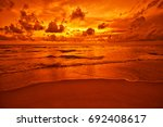 tropical sunset  | Shutterstock . vector #692408617