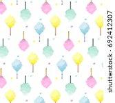 sweet cotton candy pattern.... | Shutterstock . vector #692412307