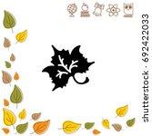 web icon. maple leaf  tree leaf | Shutterstock .eps vector #692422033