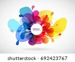 abstract colored flower...   Shutterstock .eps vector #692423767