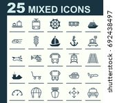 transportation icons set.... | Shutterstock .eps vector #692438497