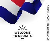 welcome to croatia. croatia... | Shutterstock .eps vector #692446597