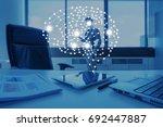 ai conceptual in business... | Shutterstock . vector #692447887