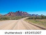 spitzkoppe  unique rock...   Shutterstock . vector #692451007