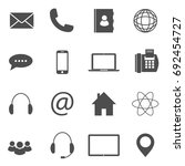 contact icons | Shutterstock .eps vector #692454727