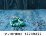 woman handmade bijouterie made... | Shutterstock . vector #692456593