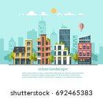 green energy and eco friendly... | Shutterstock .eps vector #692465383