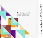 triangle pattern design... | Shutterstock .eps vector #692474323