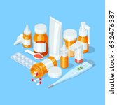 different medicaments ... | Shutterstock .eps vector #692476387
