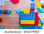 designer blocks. plastic toy... | Shutterstock . vector #692479987