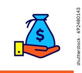 outline icon profit of finance  ... | Shutterstock .eps vector #692480143