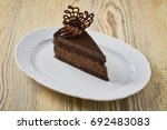 dessert on a beautiful wooden... | Shutterstock . vector #692483083