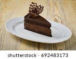 dessert on a beautiful wooden...   Shutterstock . vector #692483173