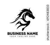 Stock vector arts jumping horse 692483833