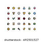 set of 30 tiny pixel perfect 8...