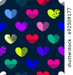 abstract seamless hearts... | Shutterstock .eps vector #692509177