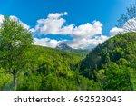 picturesque komovi mountains... | Shutterstock . vector #692523043