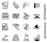 icons for learning about... | Shutterstock .eps vector #692536693