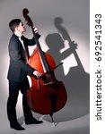 Double Bass Player Playing...