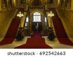 hungarian parliament | Shutterstock . vector #692542663