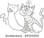 illustration of cat and his
