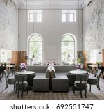 cafe in a loft style with...   Shutterstock . vector #692551747