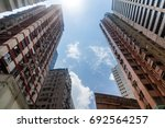 view of multistory residential... | Shutterstock . vector #692564257