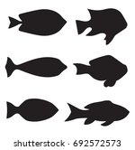 black fish silhouettes   vector ...   Shutterstock .eps vector #692572573