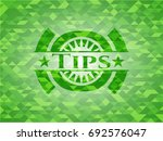 tips realistic green mosaic... | Shutterstock .eps vector #692576047