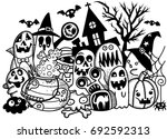 vector illustration of cute... | Shutterstock .eps vector #692592313