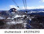 showa shinzan mountain view in... | Shutterstock . vector #692596393
