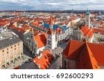 aerial view of old town hall in ... | Shutterstock . vector #692600293