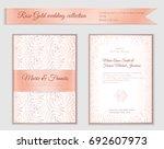 luxury wedding invitation... | Shutterstock .eps vector #692607973