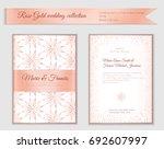 luxury wedding invitation... | Shutterstock .eps vector #692607997