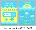 summer sale poster with... | Shutterstock .eps vector #692610427