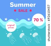 summer sale poster with... | Shutterstock .eps vector #692610457