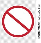 forbidden  no  stop | Shutterstock .eps vector #692627113