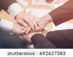 good teamwork  workplace... | Shutterstock . vector #692627383