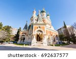 orthodoxy church in nice... | Shutterstock . vector #692637577