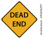 dead end sign isolated on white ...   Shutterstock .eps vector #692656297