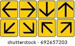 direction arrow signs set... | Shutterstock .eps vector #692657203