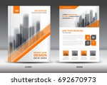 annual report brochure flyer... | Shutterstock .eps vector #692670973