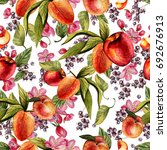 Bright Watercolor Pattern With...