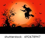 halloween background in vector | Shutterstock .eps vector #692678947