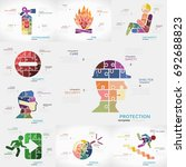 safety infographics pack with... | Shutterstock .eps vector #692688823